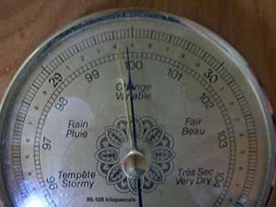 Mesure de pression atmosphérique